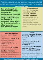 Het Oost-Vlaams Netwerk/Zorgcircuit volwassenen met een verstandelijke beperking en bijkomende psychische en/of gedragsproblemen biedt een telefonische consultlijn aan